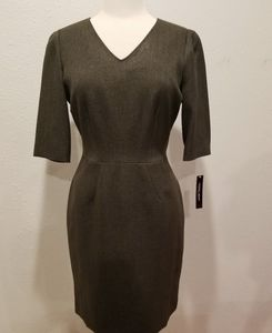 NWT Antonio Melani size 10 green career dress
